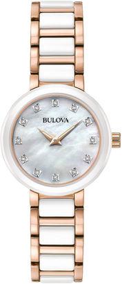 Bulova Womens Two Tone Bracelet Watch-98p160 $375 thestylecure.com