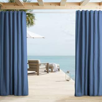 west elm Outdoor Solid Curtains - Marine