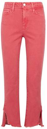 Paige Hoxton Coral Cropped Skinny Jeans