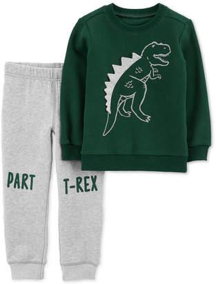 Carter's Toddler Boys 2-Pc. Dinosaur Sweatshirt & Jogger Pants Set