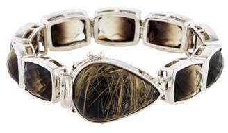 Stephen Dweck Rutilated Quartz Doublet & Quartz Link Bracelet