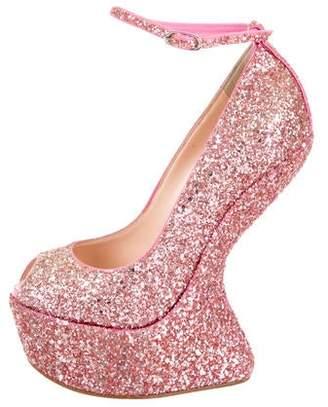 42280d97b83429 Giuseppe Zanotti Pink Platform Women s Sandals - ShopStyle