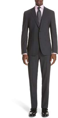 Canali Classic Fit Stretch Solid Wool Suit