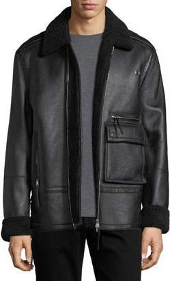 Ovadia & Sons Drakon Shearling Fur Utility Jacket