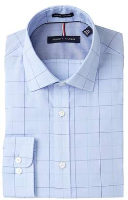 Tommy Hilfiger Plaid Slim Fit Non Iron Dress Shirt