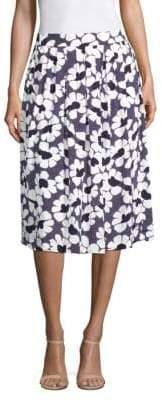 Peserico Floral-Print Skirt