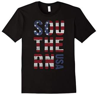 Southern USA Flag Lettering Graphic T-Shirt