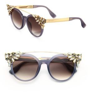 Jimmy Choo Jimmy Choo Vivy 51MM Crystal-Embellished Cats-Eye Sunglasses