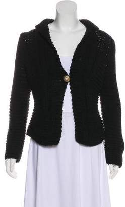 Chanel Wool Heavy Knit Cardigan