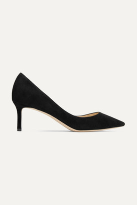 Jimmy Choo Romy 60 Suede Pumps - Black