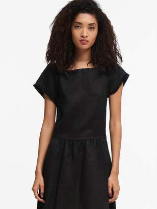 DKNY Off-The-Shoulder Dress With Waist Tie