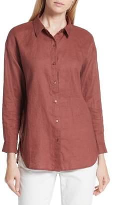 Eileen Fisher Classic Collar Linen Shirt