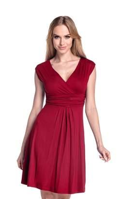 Glamour Empire Women's Sleeveless Circle Skater Flattering Summer Dress 8-20 256 (Blue Grey