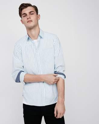 Express Slim Soft Wash Stripe Cotton Button-Down Shirt