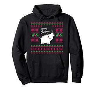 Christmas Ugly Sweater Rhinoceros Animal Hoodie