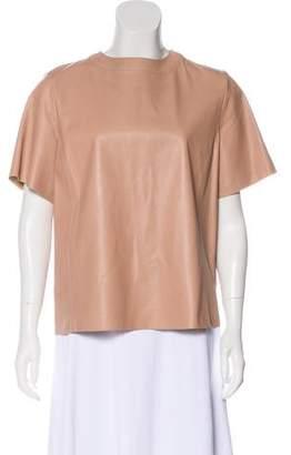 Belstaff Short Sleeve Leather Top