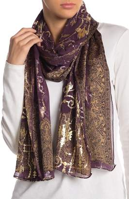 Saachi Metallic Foil Indore Silk Wrap