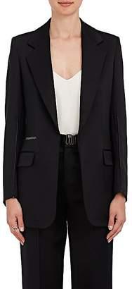 Calvin Klein WOMEN'S SILK-WOOL SATIN BLAZER