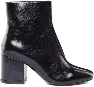 Kenzo Daria Crakled Patent-leather Ankle Boots