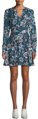 Parker Brooke Floral-Print Flounce Short Dress