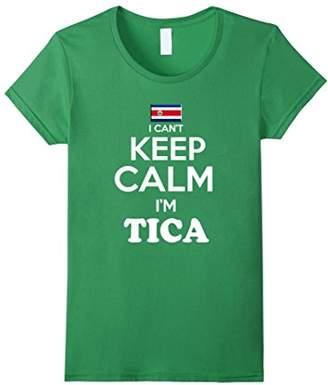Women's Costa Rica Keep Calm Camiseta Tshirt Costa Rican Lady Shirt