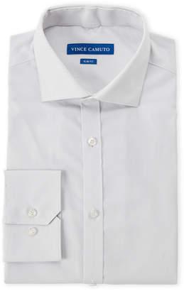 Vince Camuto Light Grey Stripe Slim Fit Dress Shirt