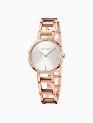 Calvin Klein cheers rose gold bracelet watch