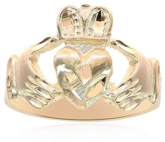 14K Yellow Gold Irish Claddagh Ring Size 6.25