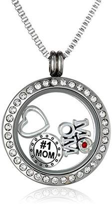 """Charmed Lockets"""" Mom"""" Pendant Necklace Floating Charm Set"""