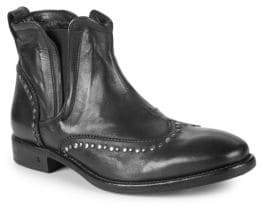 John Varvatos Fleetwood Wing-Tip Leather Chelsea Boots