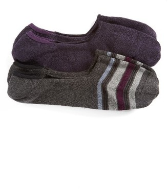 Men's Calibrate 2-Pack Cotton Blend Liner Socks $12.50 thestylecure.com