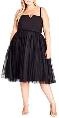City Chic Power Princess Fit & Flare Dress