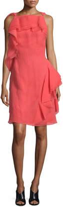 Jason Wu Sleeveless Ruffled Organza Dress, Berry