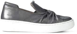 Donald J Pliner CELEST, Crackled Metallic Slip-On Sneaker