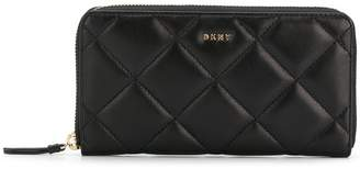 DKNY logo quilted wallet