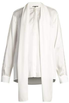 Stella McCartney Neck Tie Silk Satin Blouse - Womens - Ivory