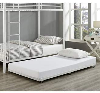 Walker Edison White Twin Roll-Out Trundle Bed Frame
