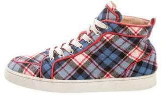 Christian Louboutin Tartan Wool Sneakers