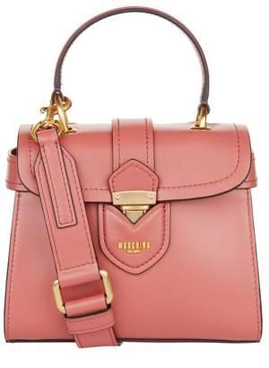 Moschino Leather Top Handle Bag