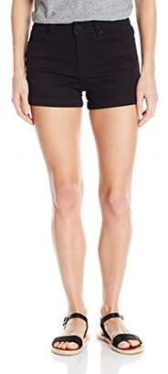 YMI Jeanswear Women's Luxe Single Button High Rise Short