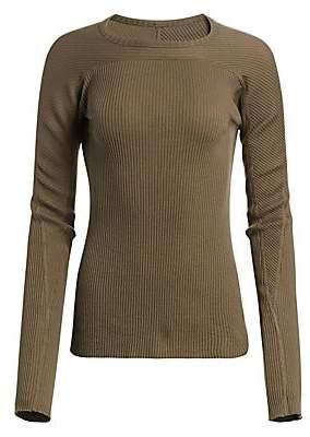 97aac10b Helmut Lang Women's Ribbed Crewneck Long Sleeve Tee
