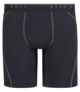 BOSS Hugo Cycling-inspired boxer briefs logo waistband M Black