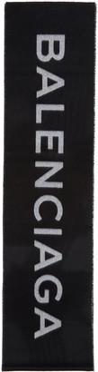 Balenciaga Black Logo Scarf $635 thestylecure.com