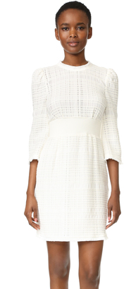 Derek Lam 10 Crosby Embroidered Dress with Puff Shoulders $595 thestylecure.com