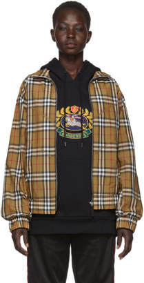 Burberry Tan Check Bomber Jacket