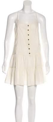 Current/Elliott Embroidered Mini Dress