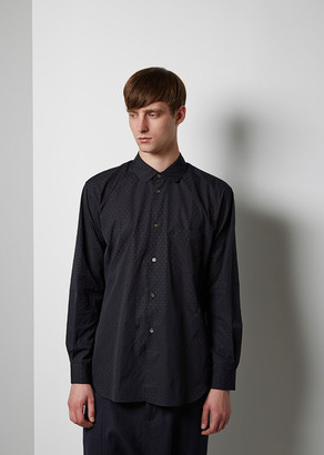 Comme des Garçons Shirt Man Dyed Jacquard Shirt $435 thestylecure.com