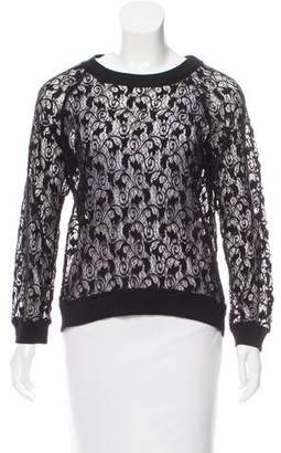 Rebecca Taylor Lace Long Sleeve Top