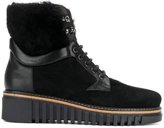 Loriblu fur wedge boots