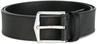 Burberry Leather Trim London Check Belt